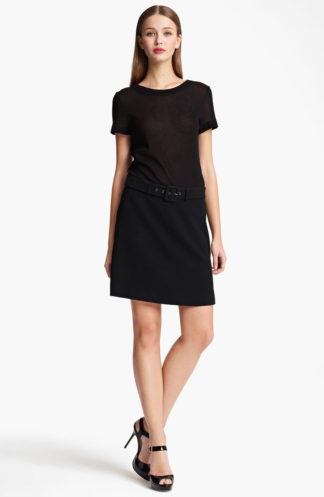 Alternate Image 1 Selected - Moschino Cheap & Chic Mesh & Crepe Dress