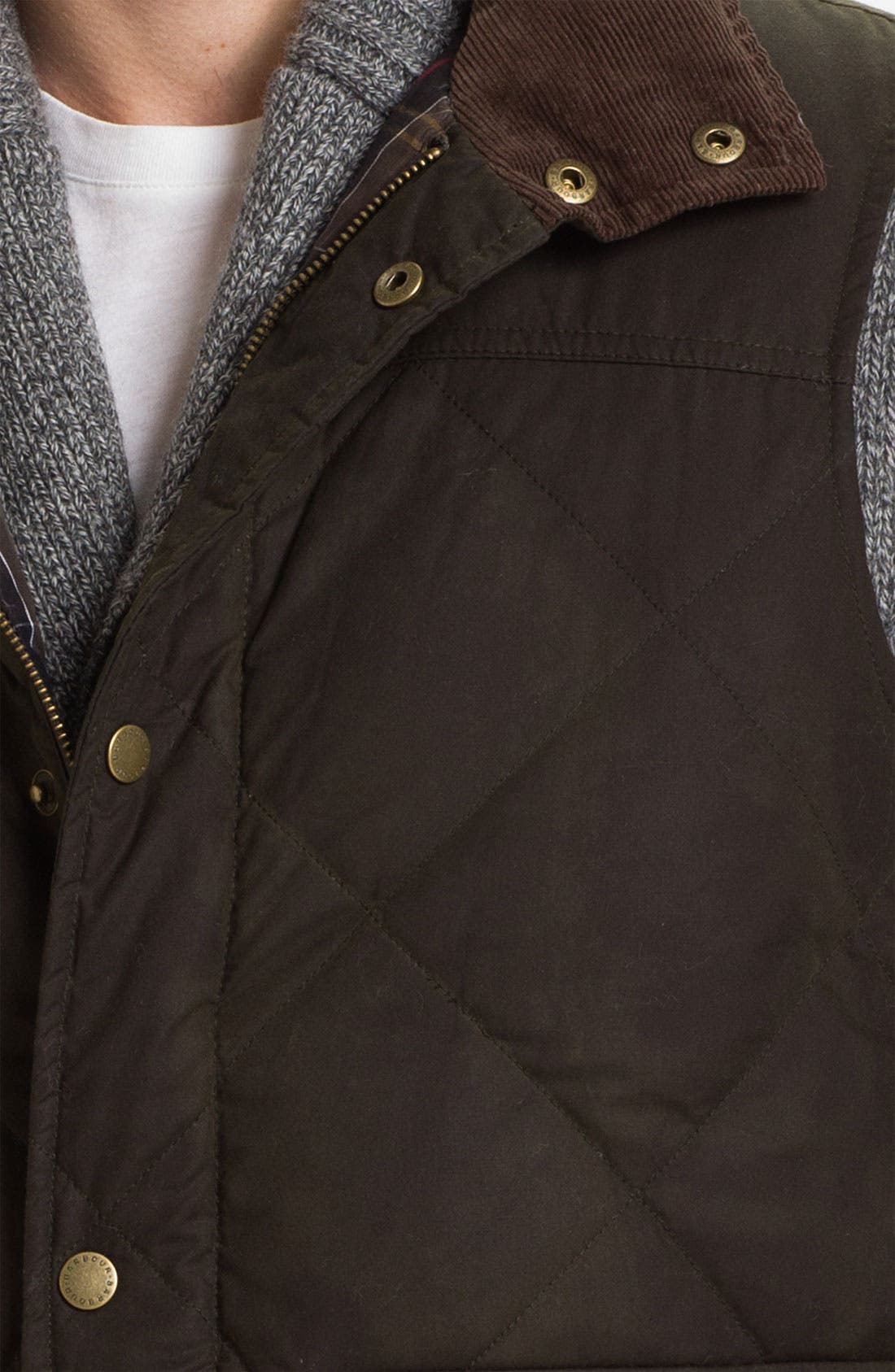 Alternate Image 3  - Barbour Quilted Feather Vest