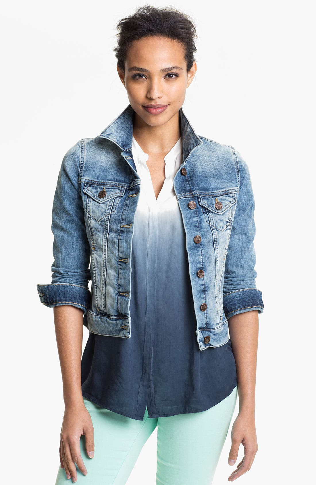 Alternate Image 1 Selected - Mavi Jeans 'Samantha' Denim Jacket