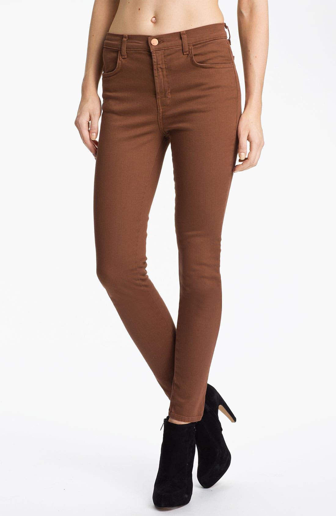Main Image - J Brand 'Maria' High Rise Skinny Stretch Jeans (Bourbon)