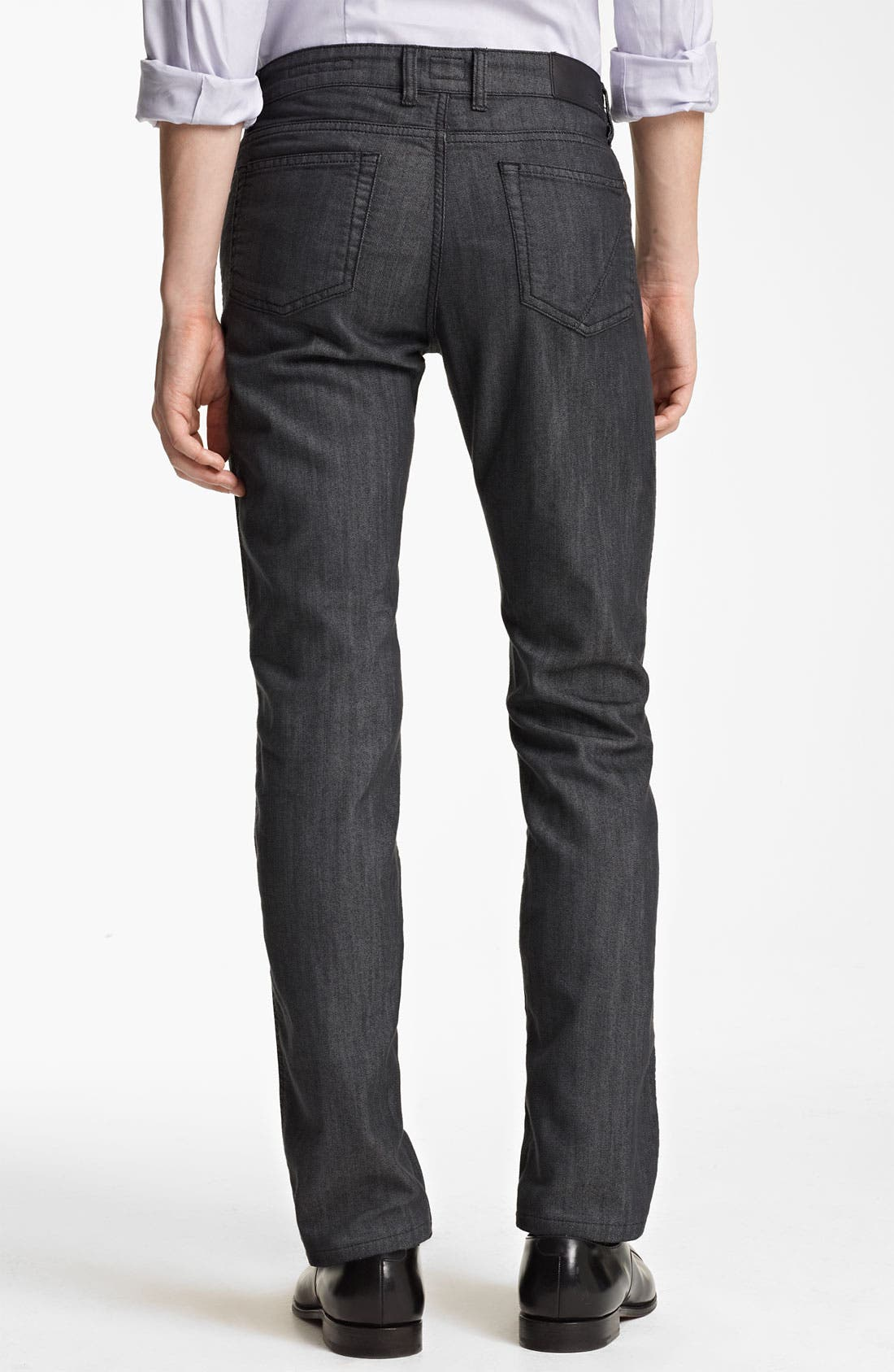 Alternate Image 2  - Z Zegna Straight Leg Jeans (Blue)