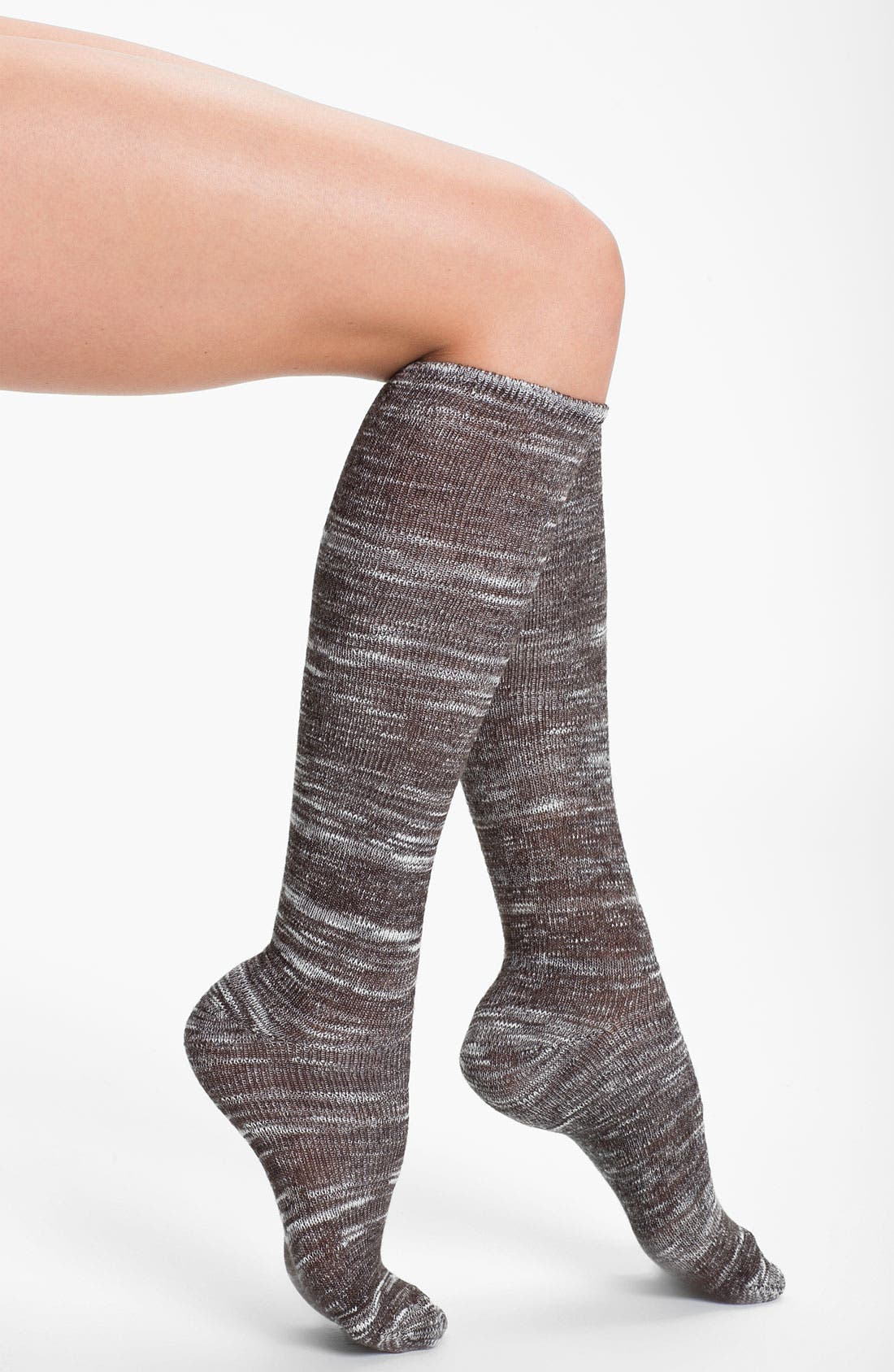 Main Image - Kensie Space Dye Knee High Socks