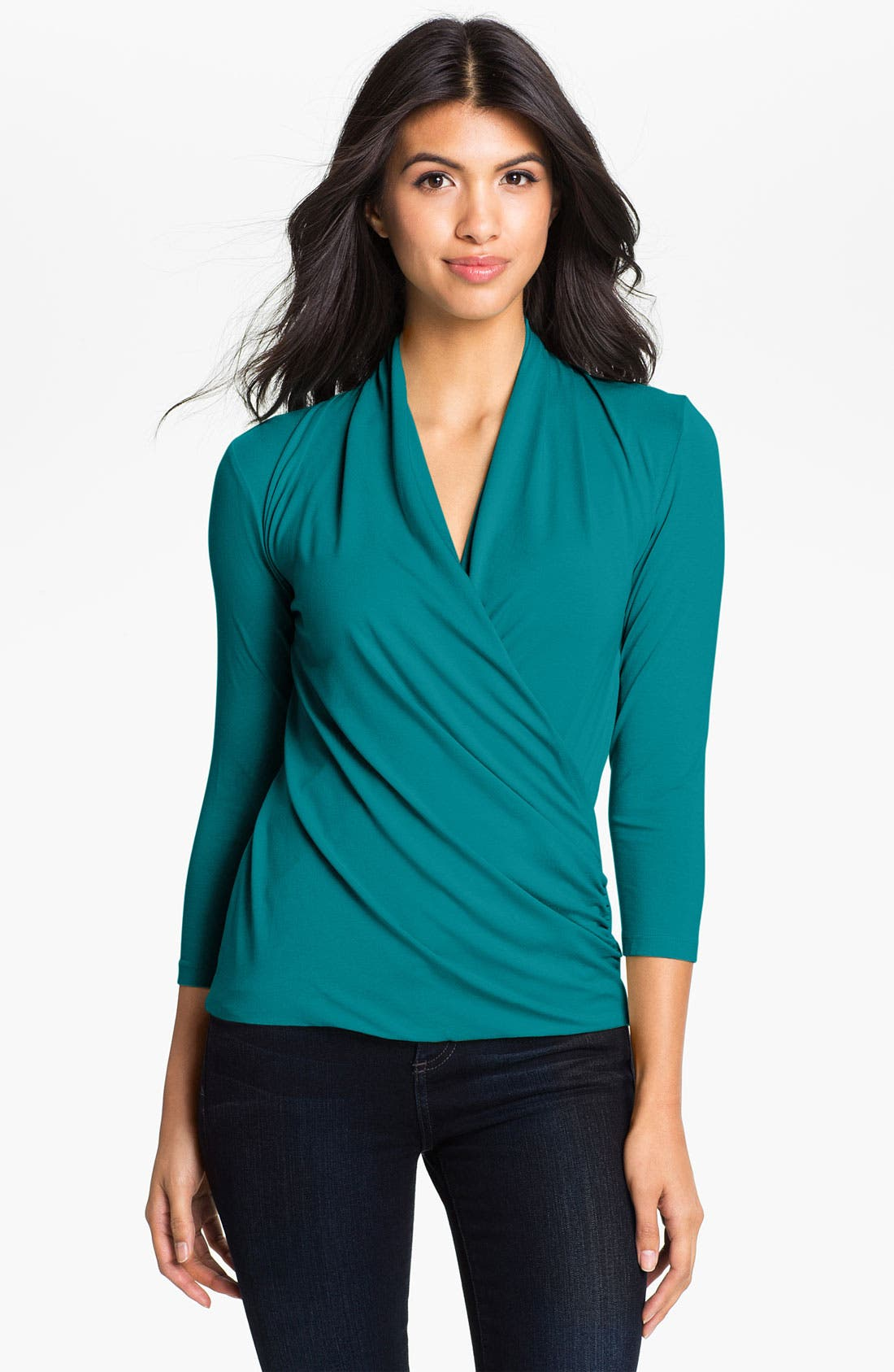 Alternate Image 1 Selected - Vince Camuto Surplice Top
