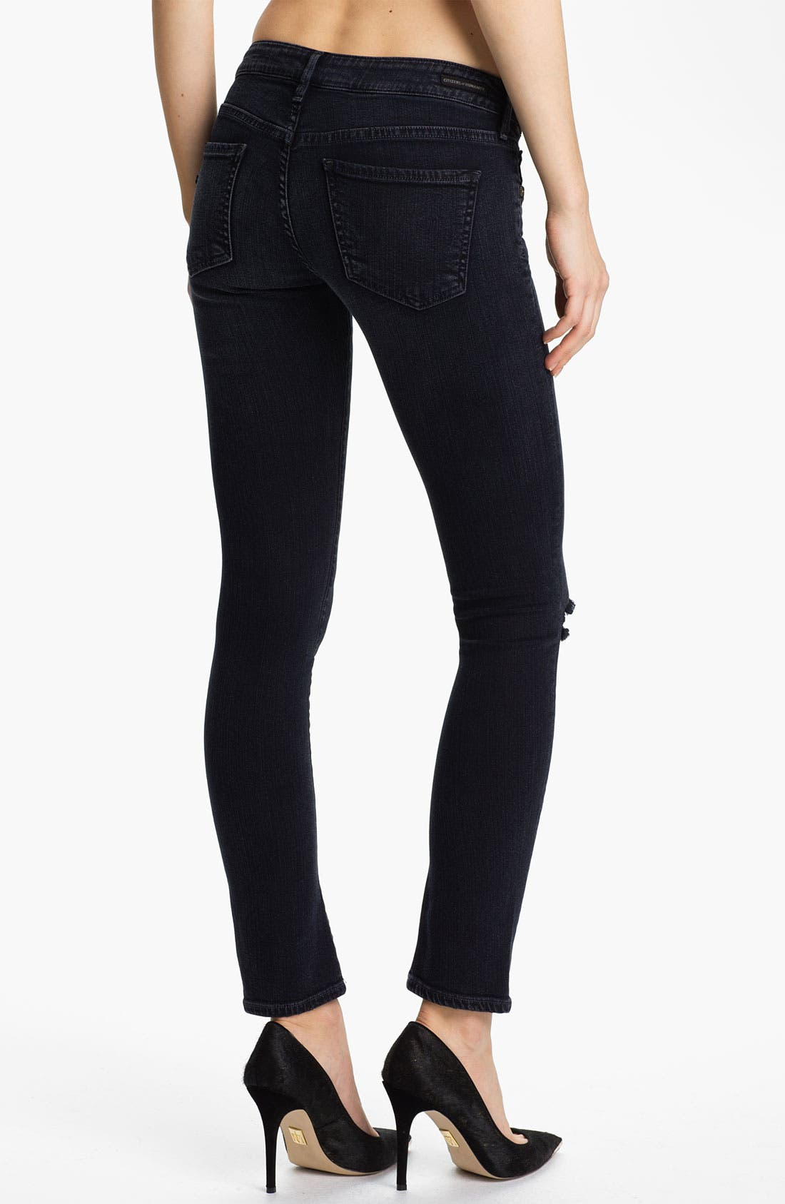 Alternate Image 2  - Citizens of Humanity 'Racer' Crop Skinny Jeans (Nocturn)