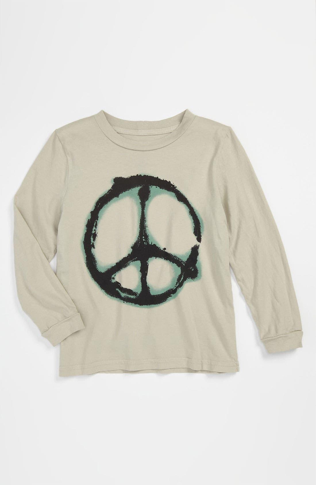 Alternate Image 1 Selected - Peek 'Grafitti Peace' T-Shirt (Toddler, Little Boys & Big Boys)
