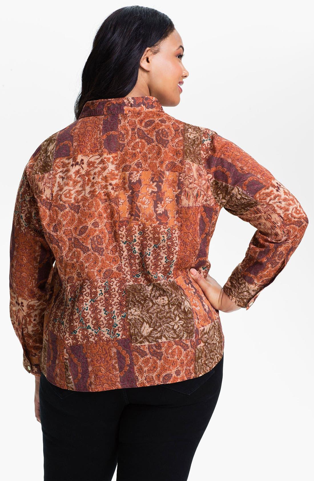Alternate Image 2  - Lucky Brand 'Joan Patchwork' Blouse (Plus)