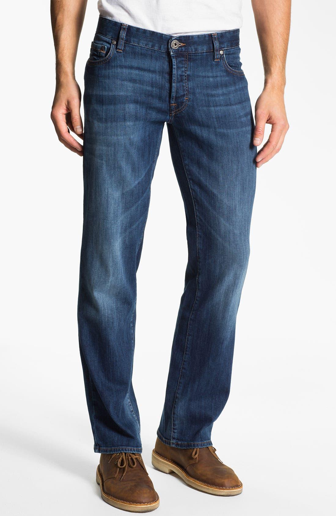 Alternate Image 2  - BOSS Orange Regular Straight Leg Jeans (Bright Blue)