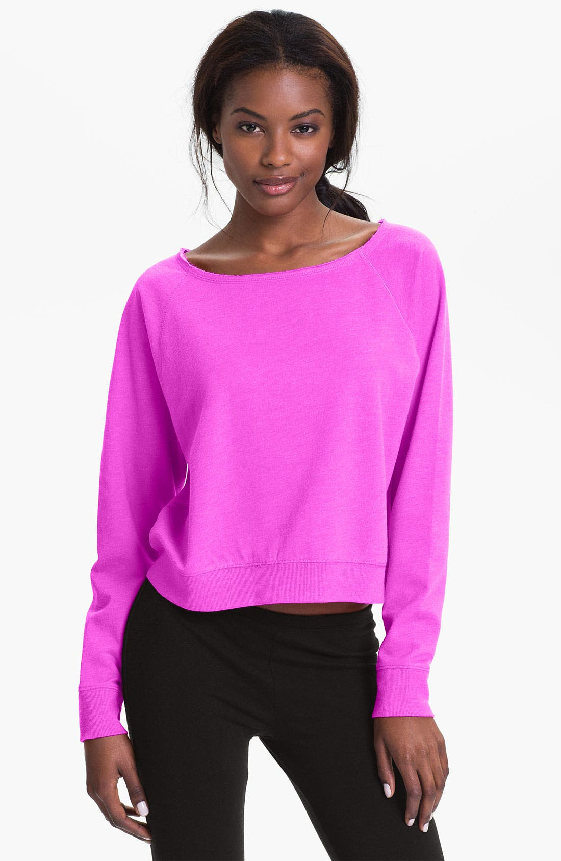 Alternate Image 1 Selected - Make + Model Cropped Sweatshirt