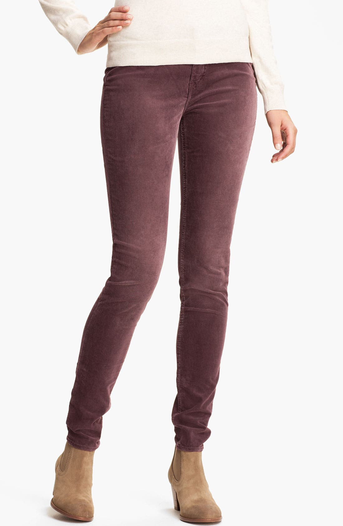 Alternate Image 1 Selected - Silver Jeans Co. 'Suki' Skinny Corduroy Pants (Juniors)