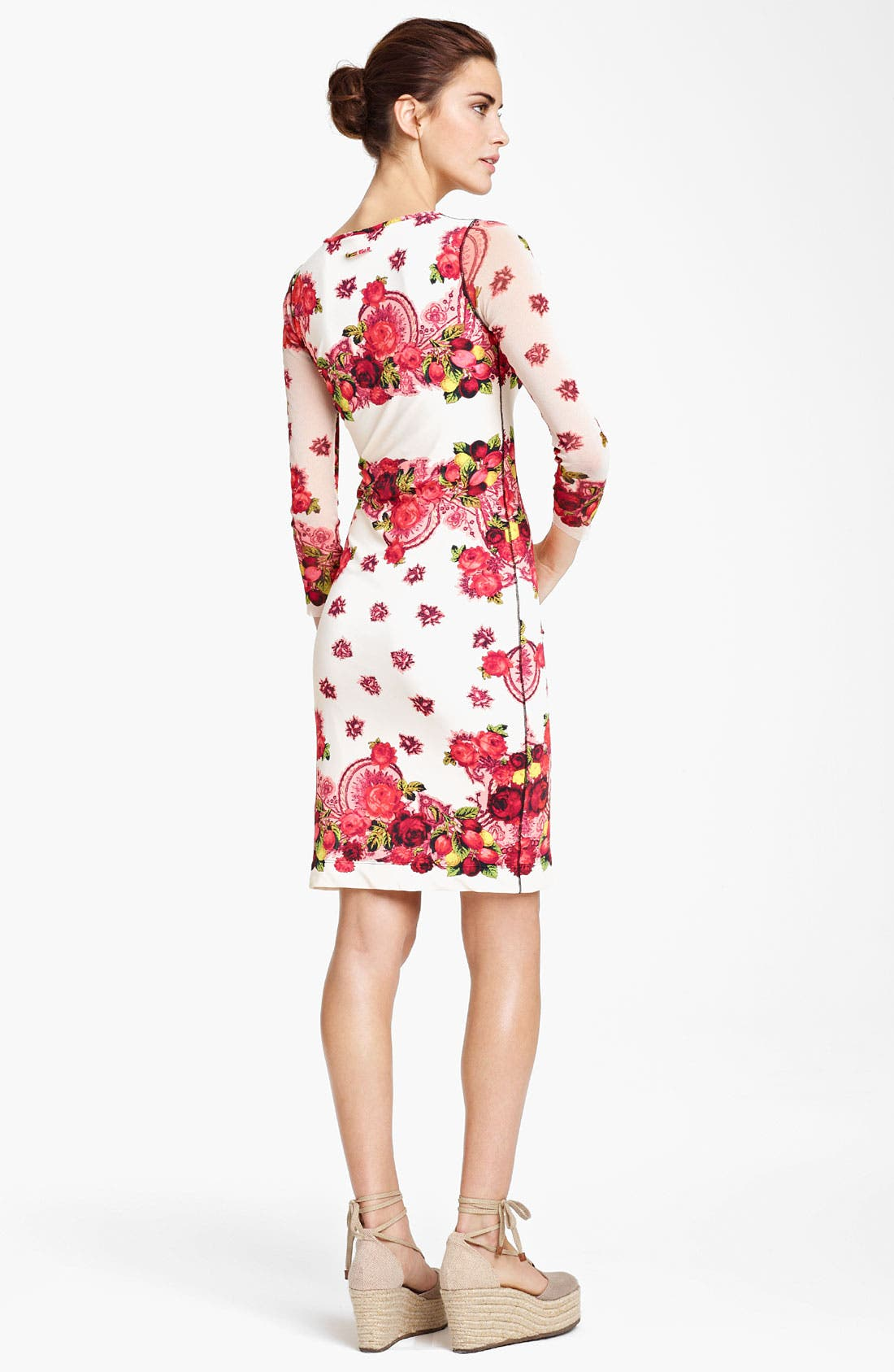 Alternate Image 2  - Jean Paul Gaultier Fuzzi Rose Print Jersey Dress
