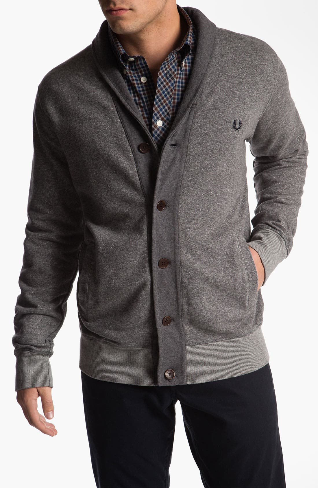 Alternate Image 1 Selected - Fred Perry Shawl Collar Cardigan