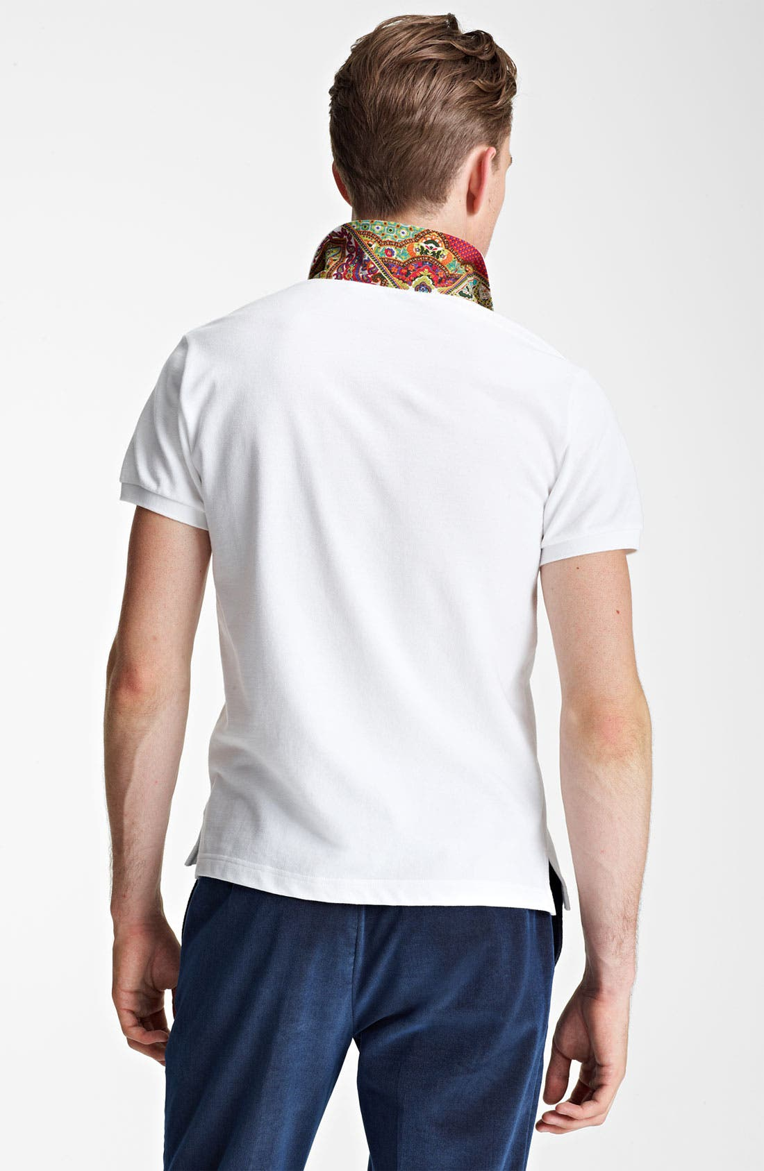 Alternate Image 2  - Etro Paisley Trimmed Polo