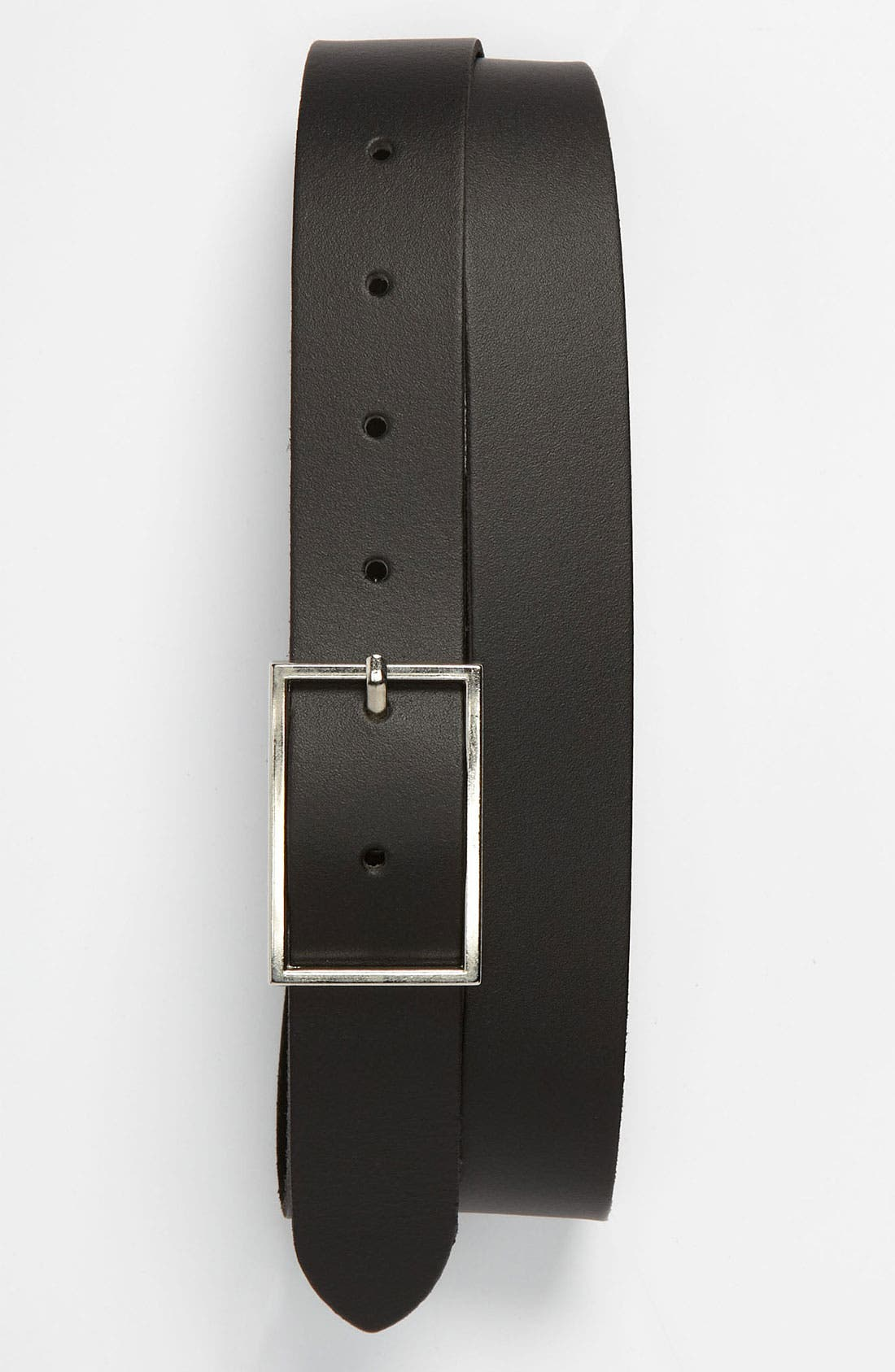 Alternate Image 1 Selected - Topman Slim Classic Leather Belt