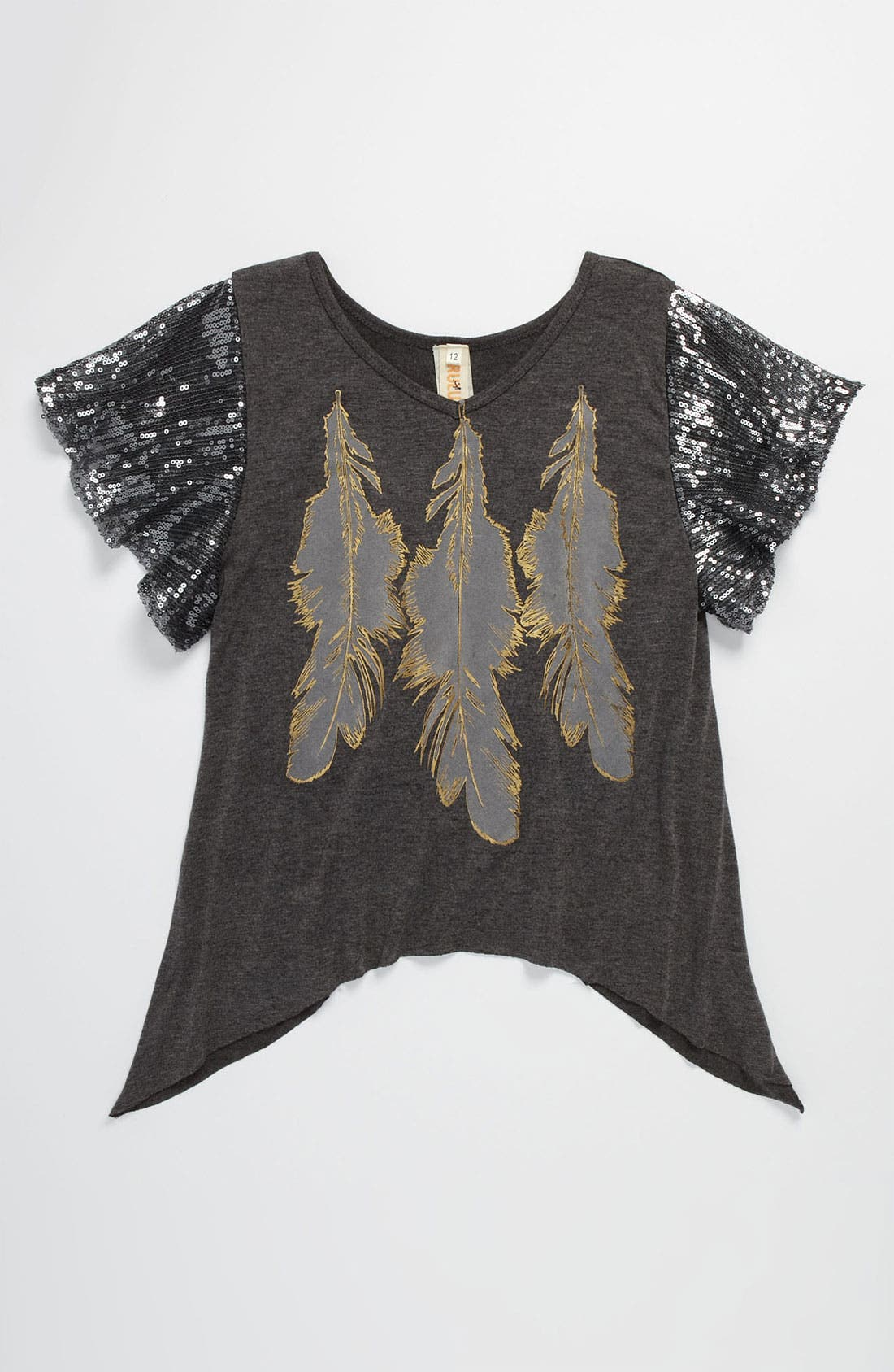 Main Image - Little Mass 'Feather' Swing Tunic (Big Girls)