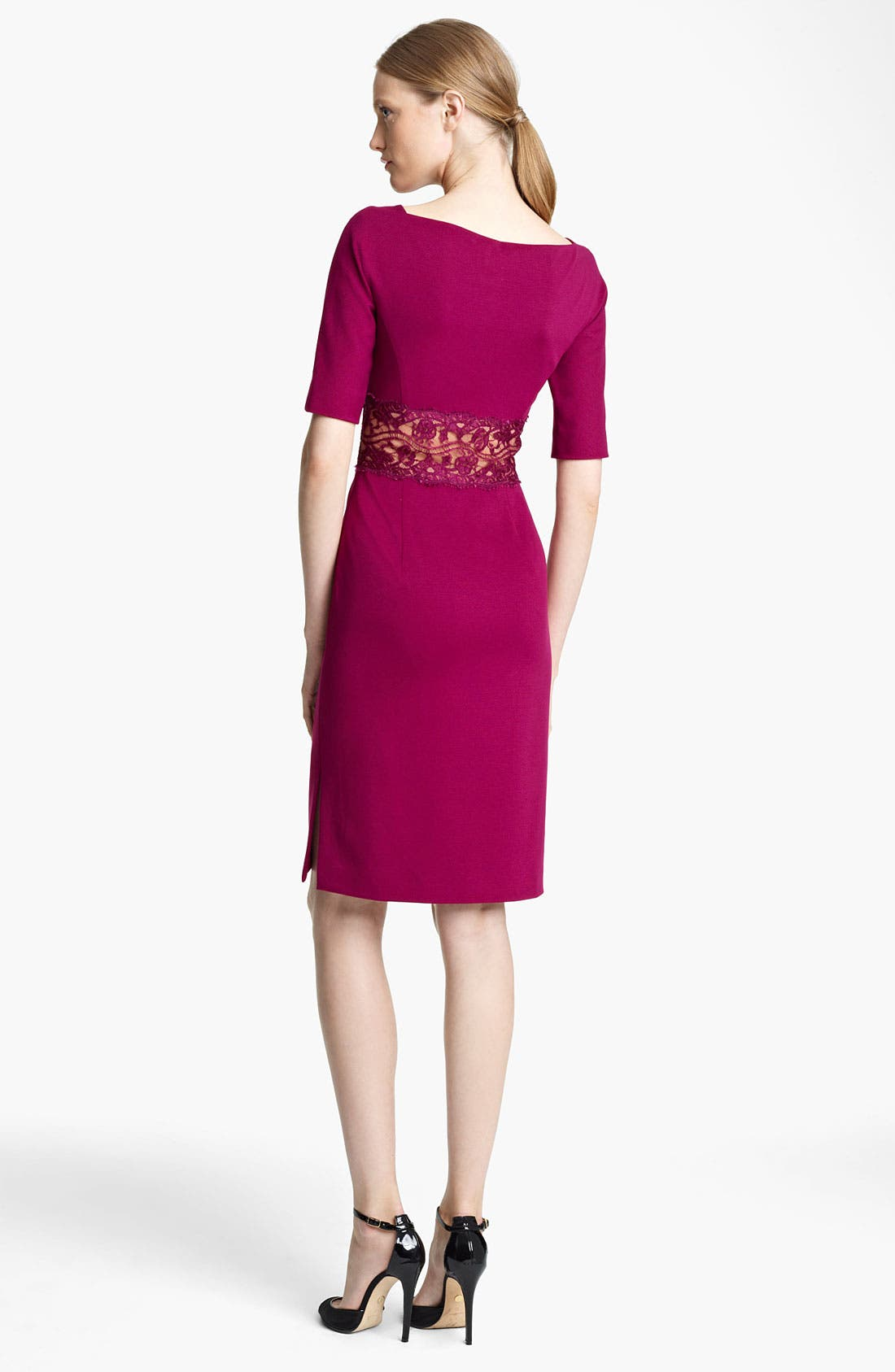 Alternate Image 2  - Emilio Pucci Lace Waist Punto Milano Dress