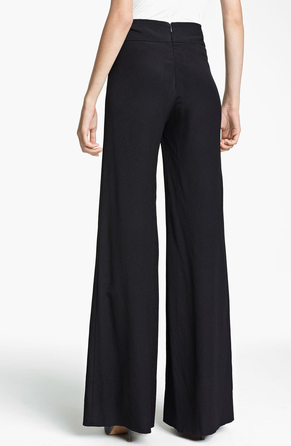 Alternate Image 2  - Donna Karan Collection Wide Leg Crepe Trousers
