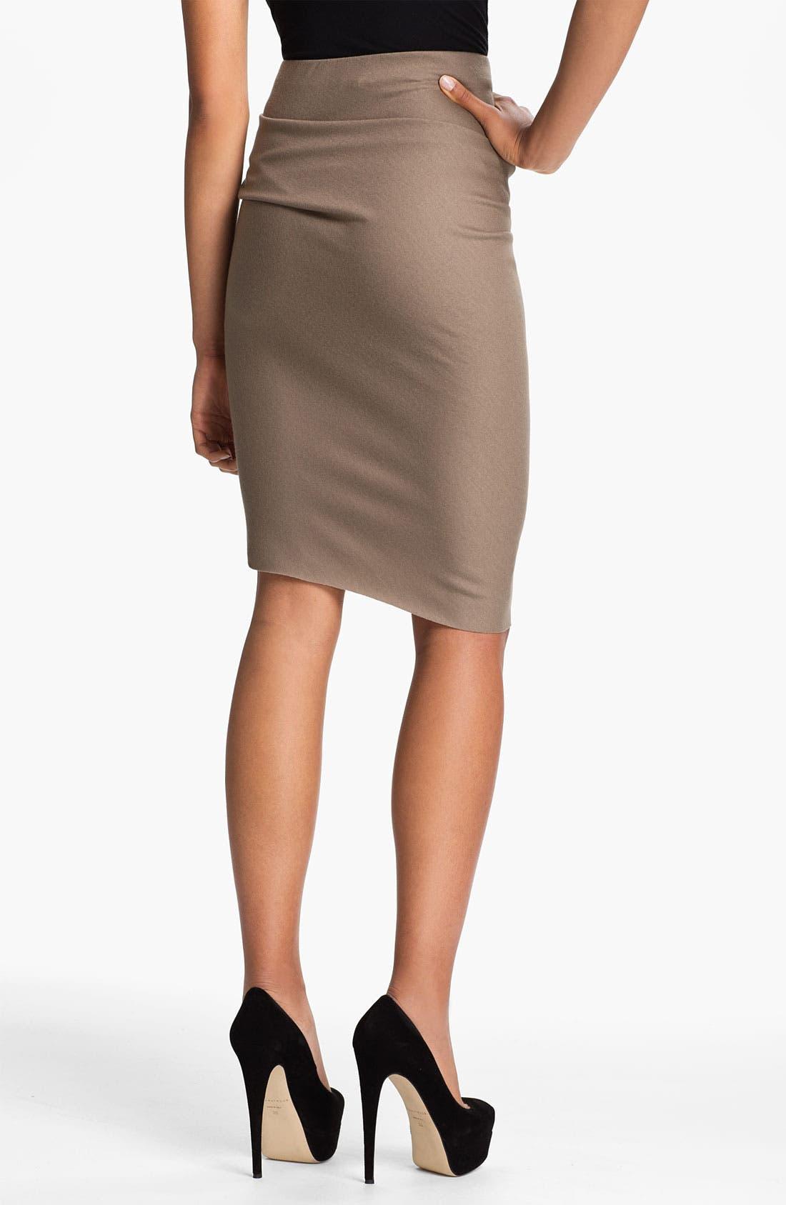 Alternate Image 2  - Halston Heritage Draped Waist Pencil Skirt