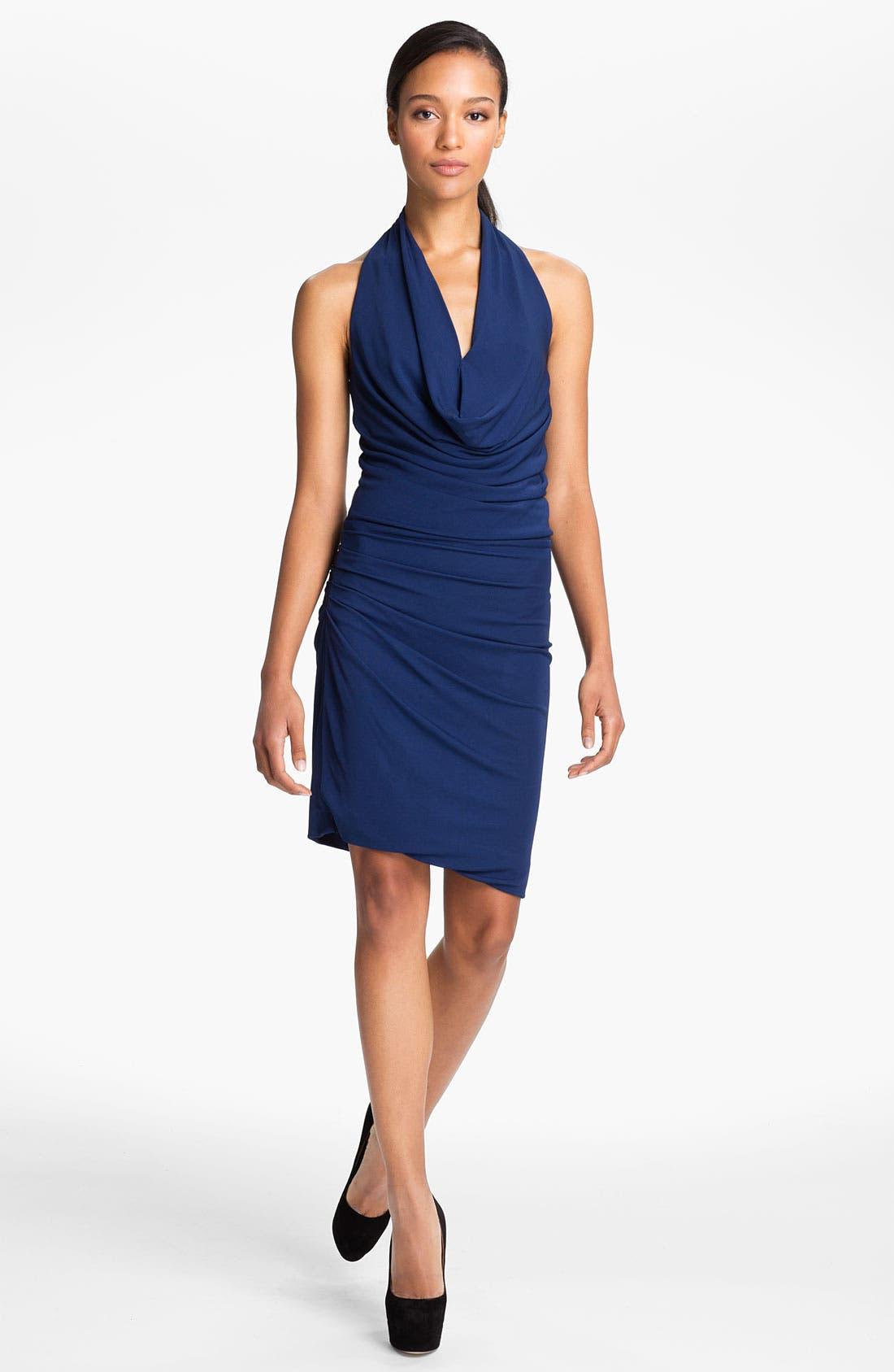 Main Image - Halston Heritage Draped Matte Jersey Halter Dress