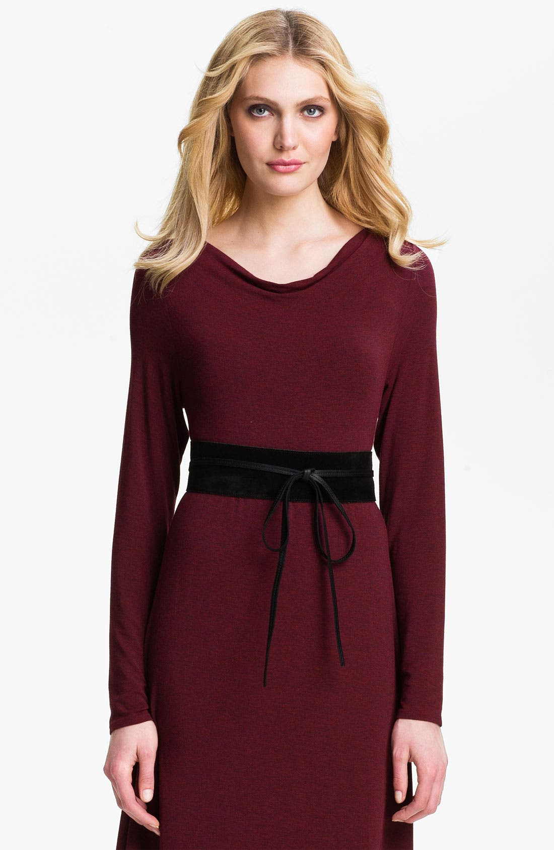 Alternate Image 1 Selected - Eileen Fisher Leather Obi Belt (Online Exclusive)