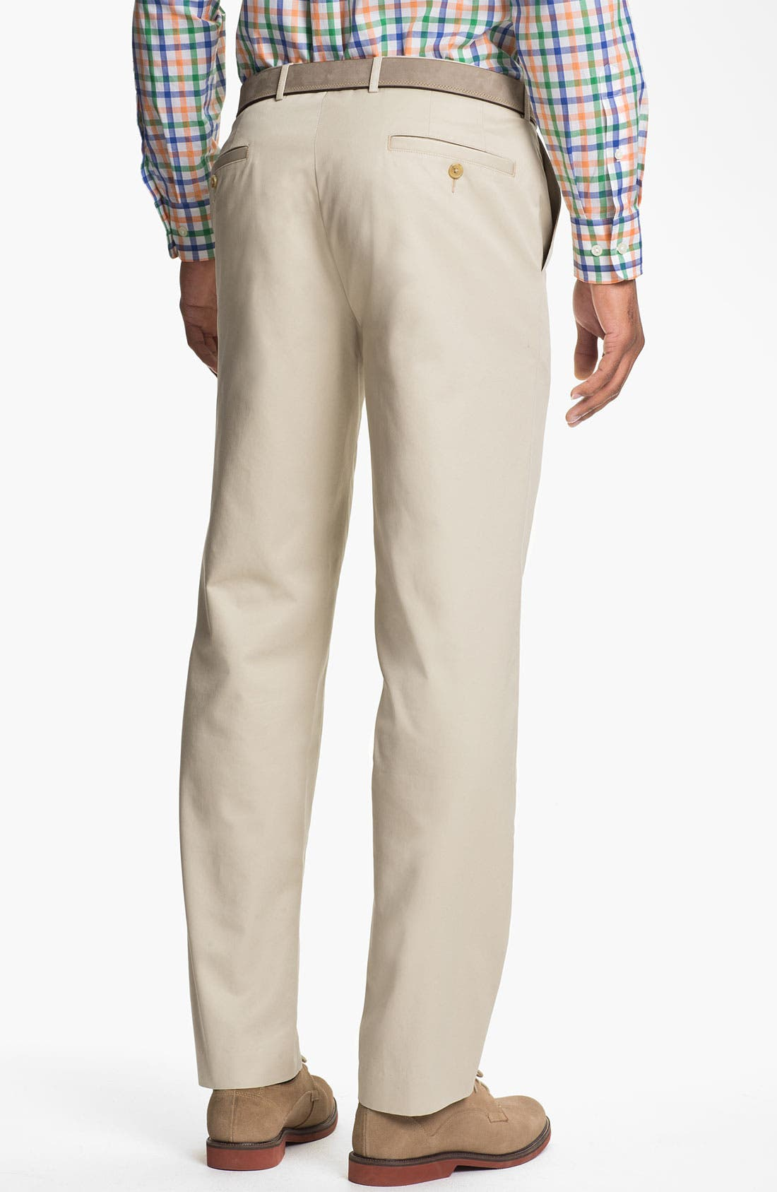 Alternate Image 2  - Calibrate Flat Front Non-Iron Supima® Cotton Pants