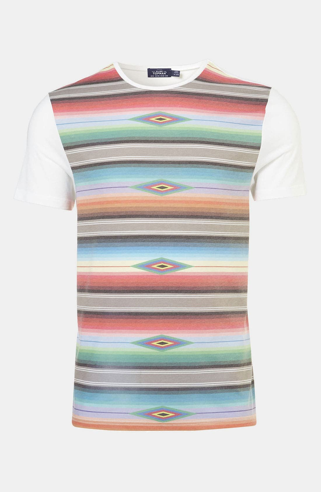 Main Image - Topman Blanket Stripe Print T-Shirt