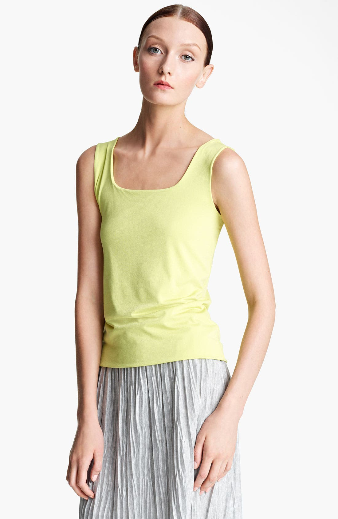 Main Image - Lida Baday Square Neck Crepe Jersey Tank