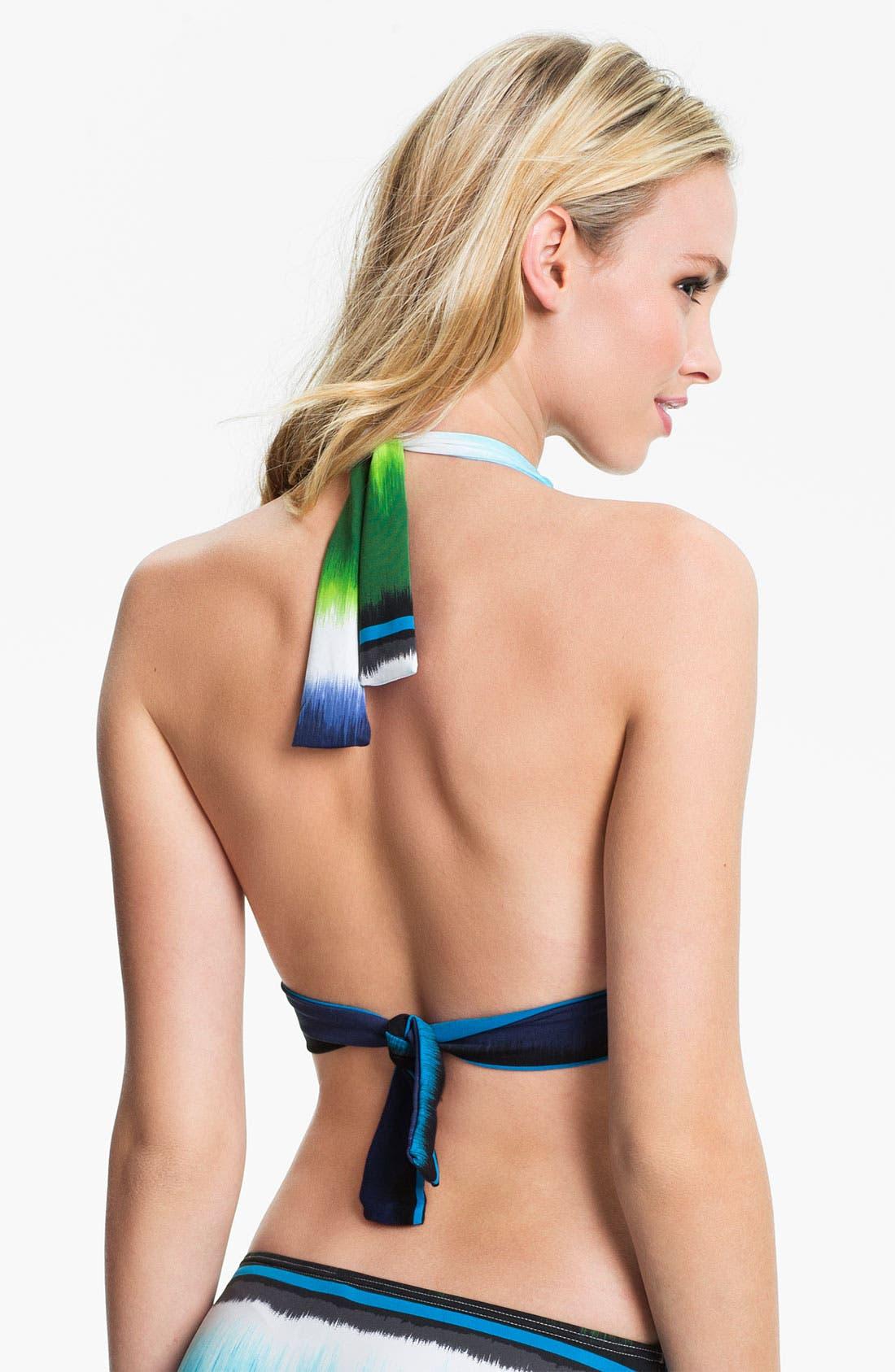 Alternate Image 2  - Tommy Bahama 'Hazy Ikat Stripe' Ring Halter Bikini Top