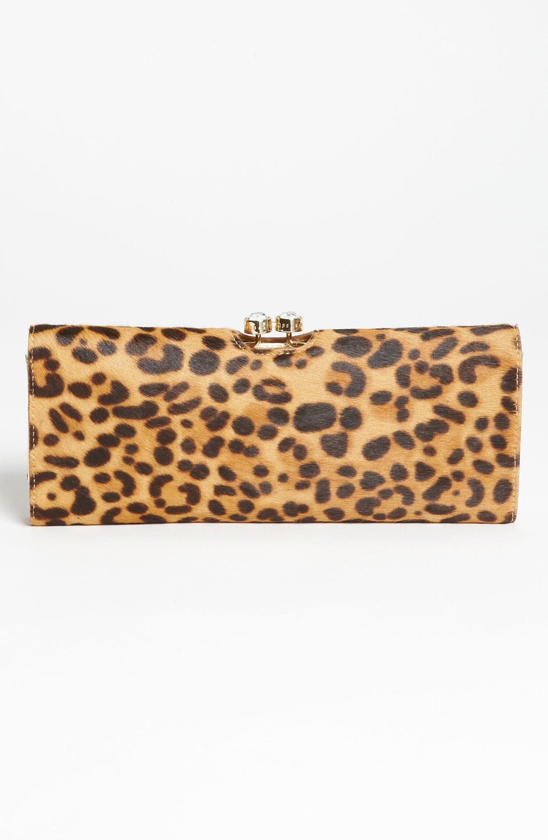 Alternate Image 4  - Ted Baker London 'Crystal Bobble - Extra Large' Calf Hair Matinee Wallet