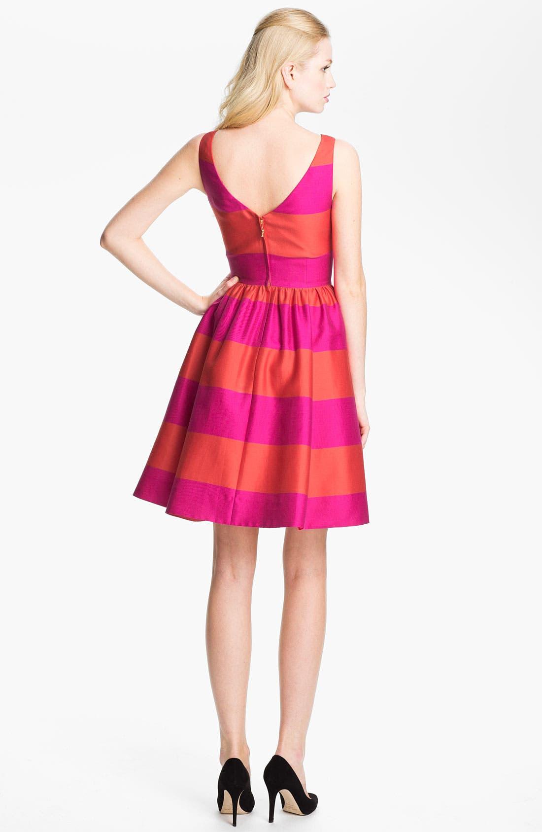 Alternate Image 2  - kate spade new york 'carolyn' stripe fit & flare dress