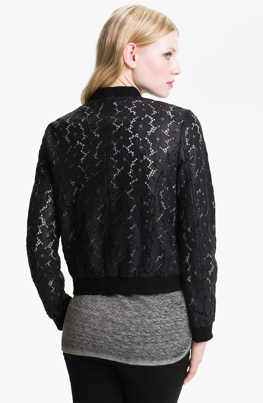Alternate Image 2  - Truth and Pride Coated Lace Bomber Jacket