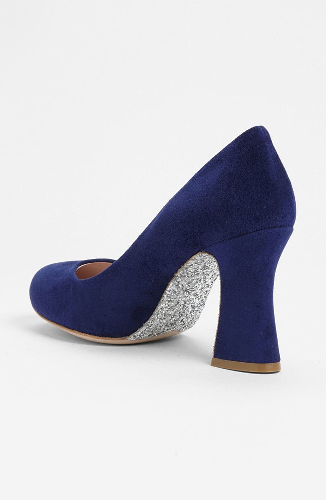 Alternate Image 2  - Miu Miu Glitter Sole Block Heel Pump