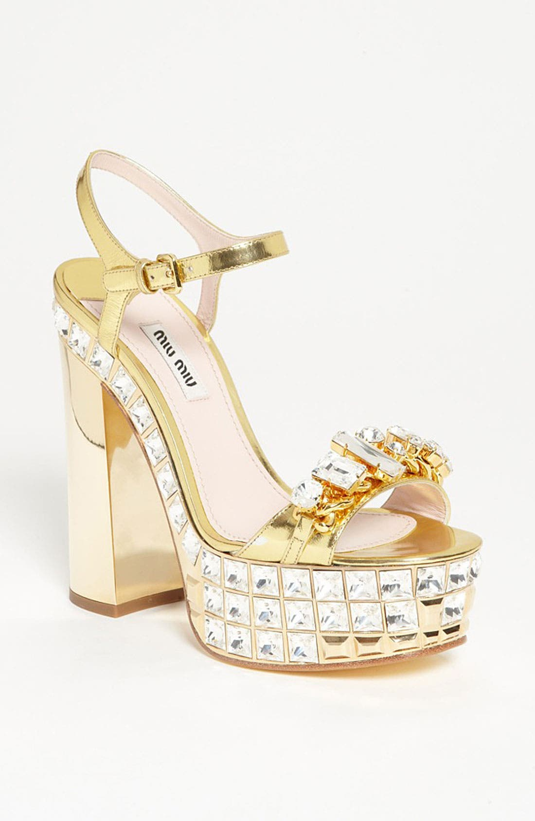 Alternate Image 1 Selected - Miu Miu Ankle Strap Platform Sandal