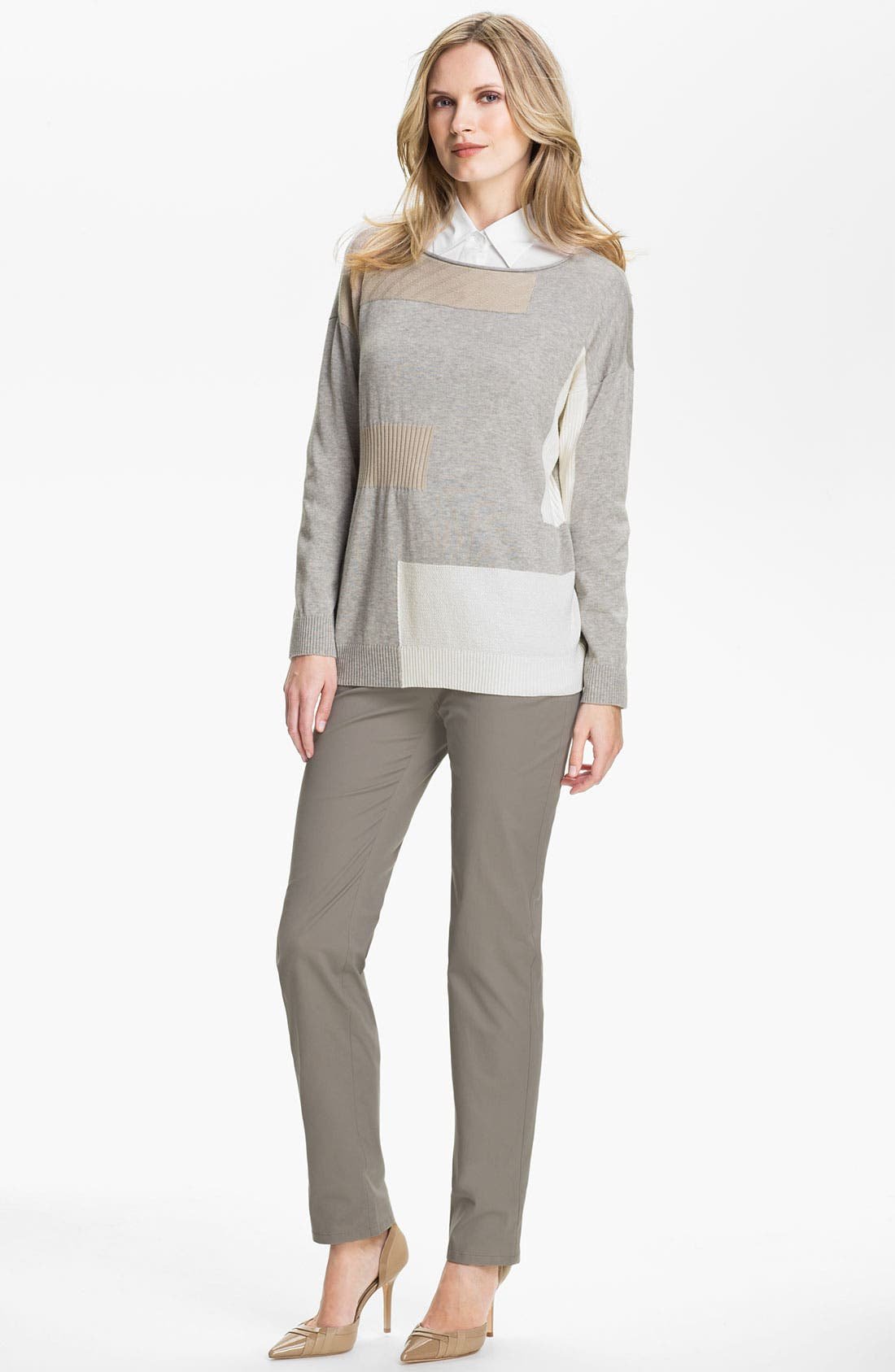 Alternate Image 4  - Lafayette 148 New York Intarsia Colorblock Sweater