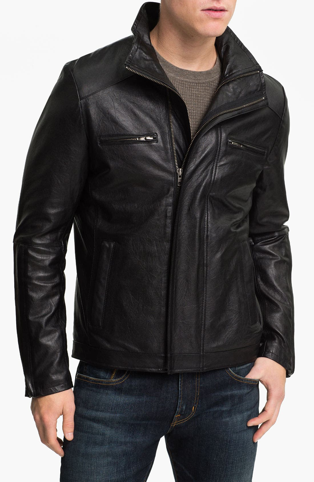 Main Image - Zachary Prell 'Barclay' Leather Jacket