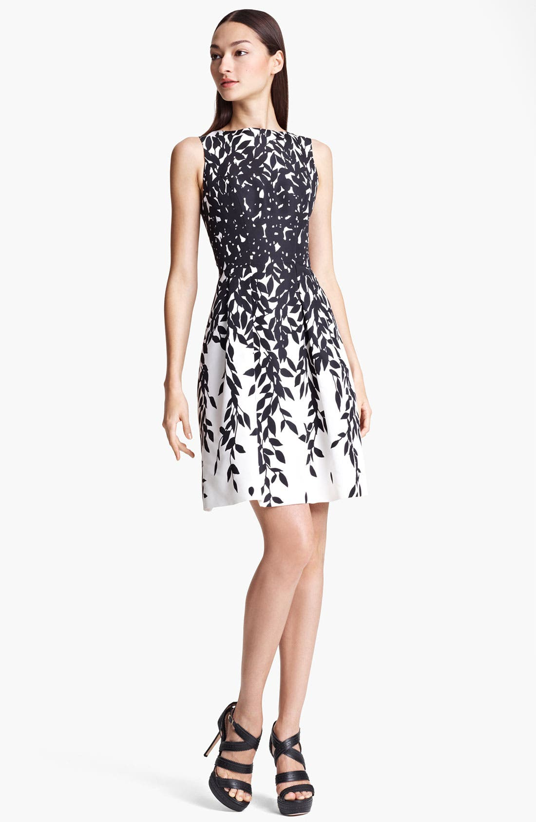Alternate Image 1 Selected - Blumarine Print Silk Dress
