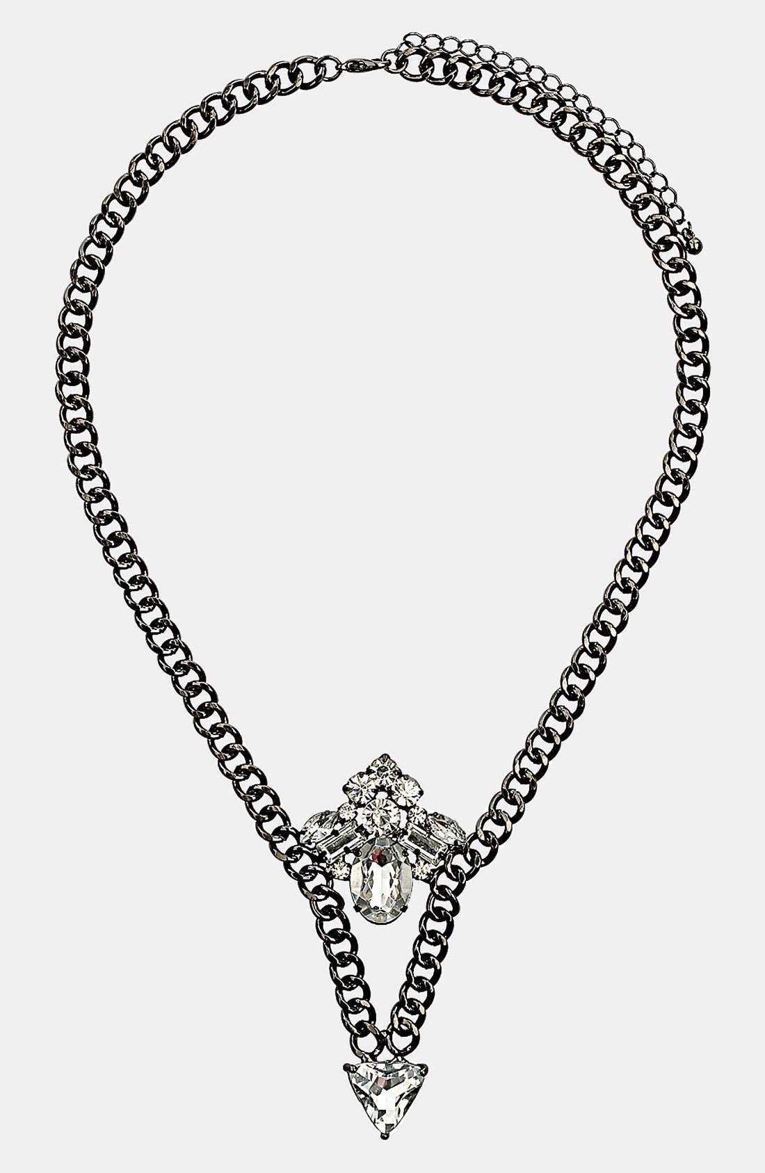 Alternate Image 1 Selected - Topshop 'Sparkle V' Necklace