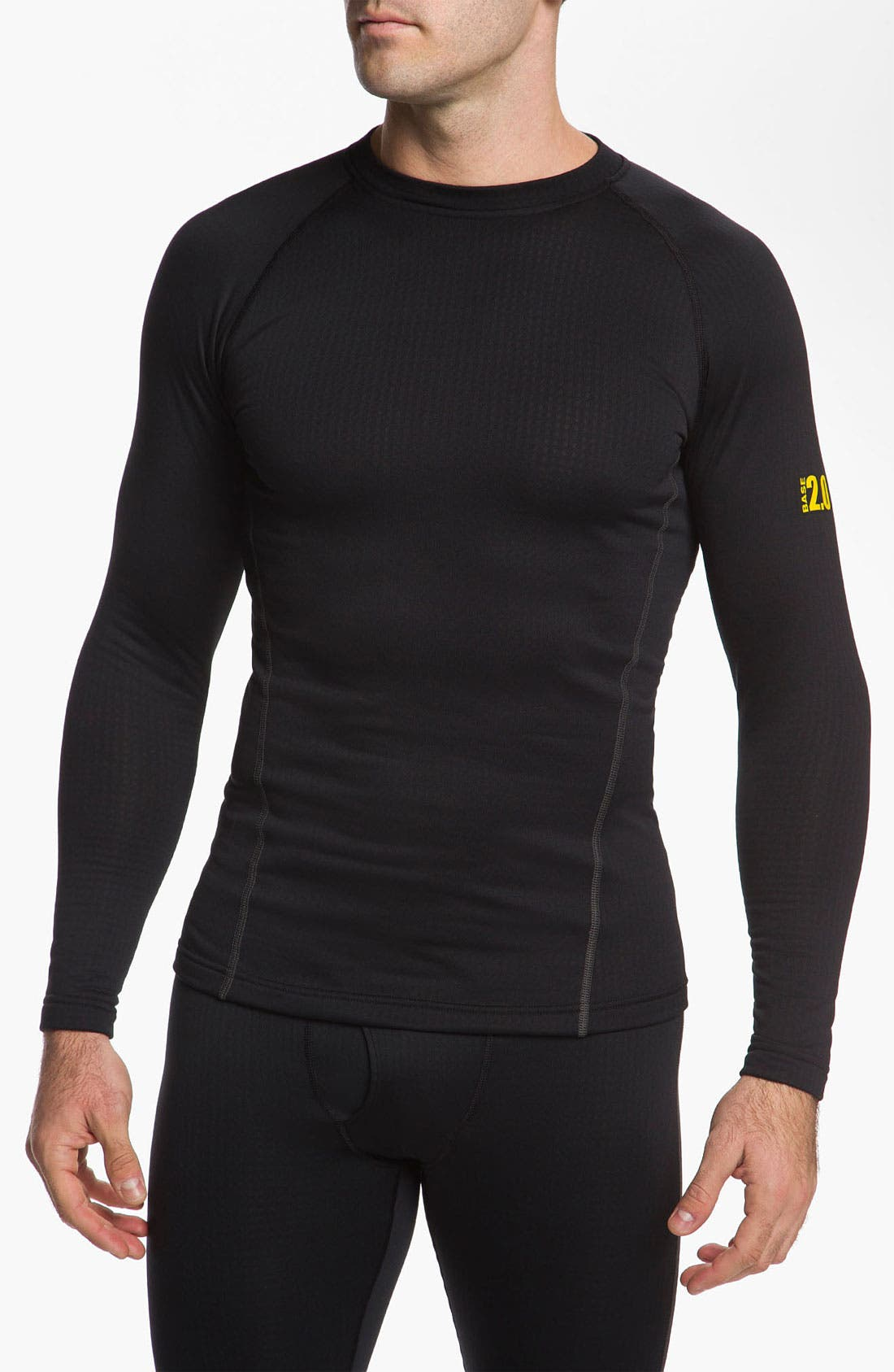 Main Image - Under Armour 'Base 2.0' Fitted Crewneck Top (Online Only)