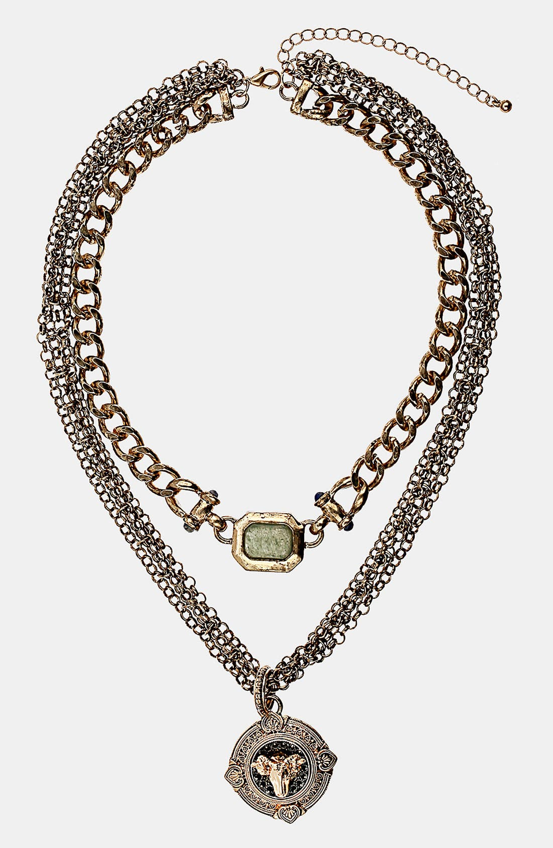 Alternate Image 1 Selected - Topshop 'Ram' Multi Row Chain Necklace