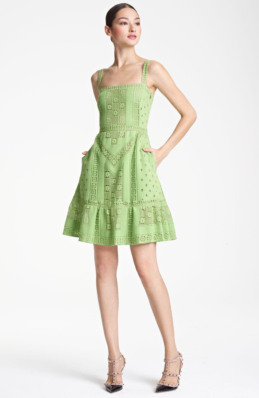 Alternate Image 1 Selected - Valentino Lace Tank Dress