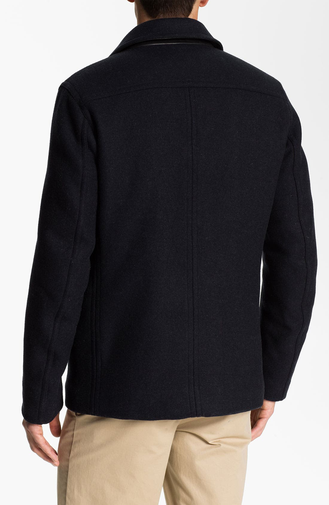Alternate Image 2  - PLECTRUM by Ben Sherman Double Breasted Peacoat