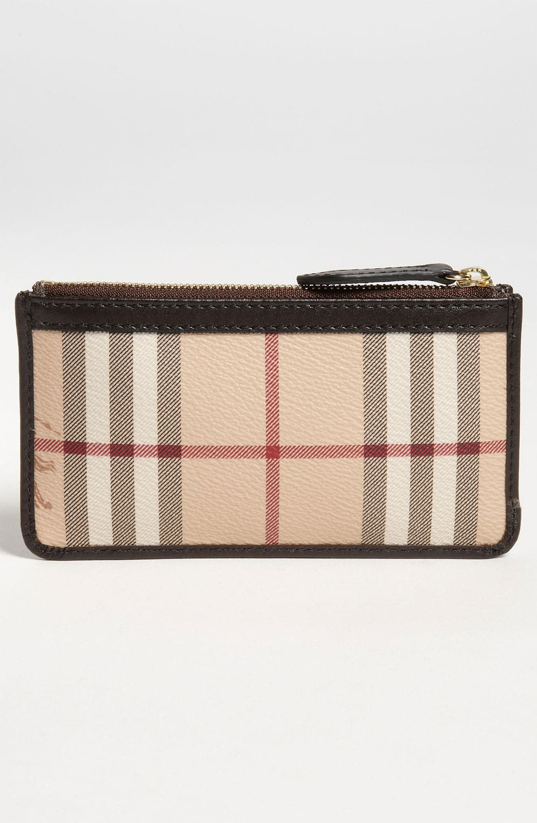 Alternate Image 4  - Burberry Check Print Coin & Card Case