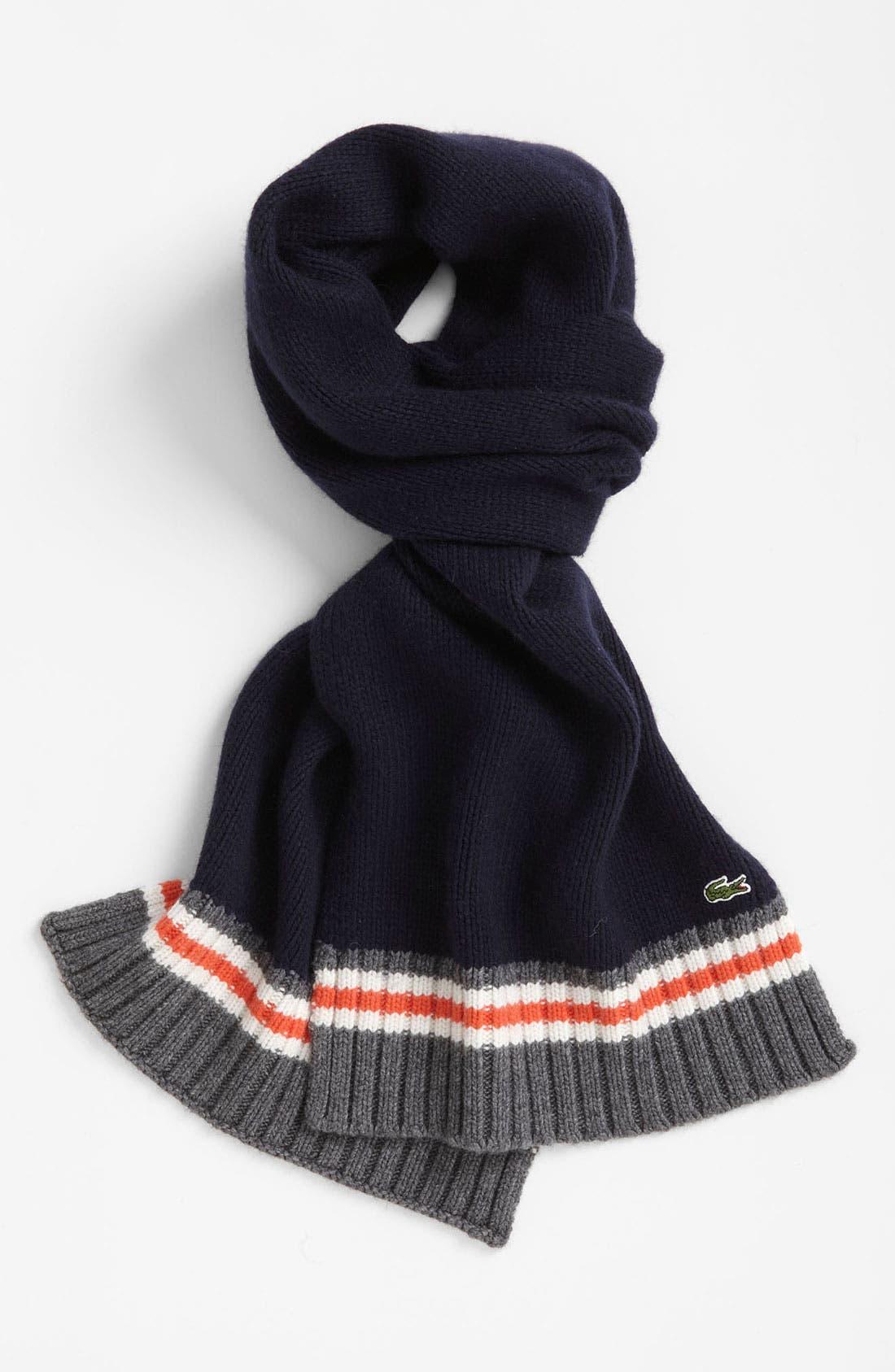 Main Image - Lacoste 'Toboggan' Knit Scarf