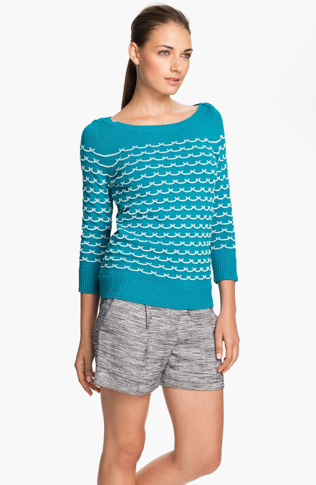 Alternate Image 1 Selected - Milly 'Sailor Stitch' Sweater