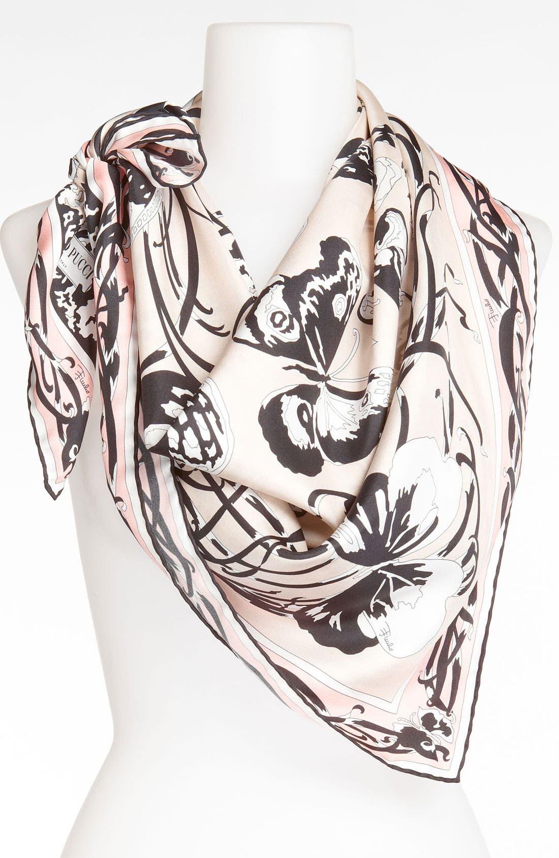 Alternate Image 1 Selected - Emilio Pucci 'Papillon' Silk Scarf