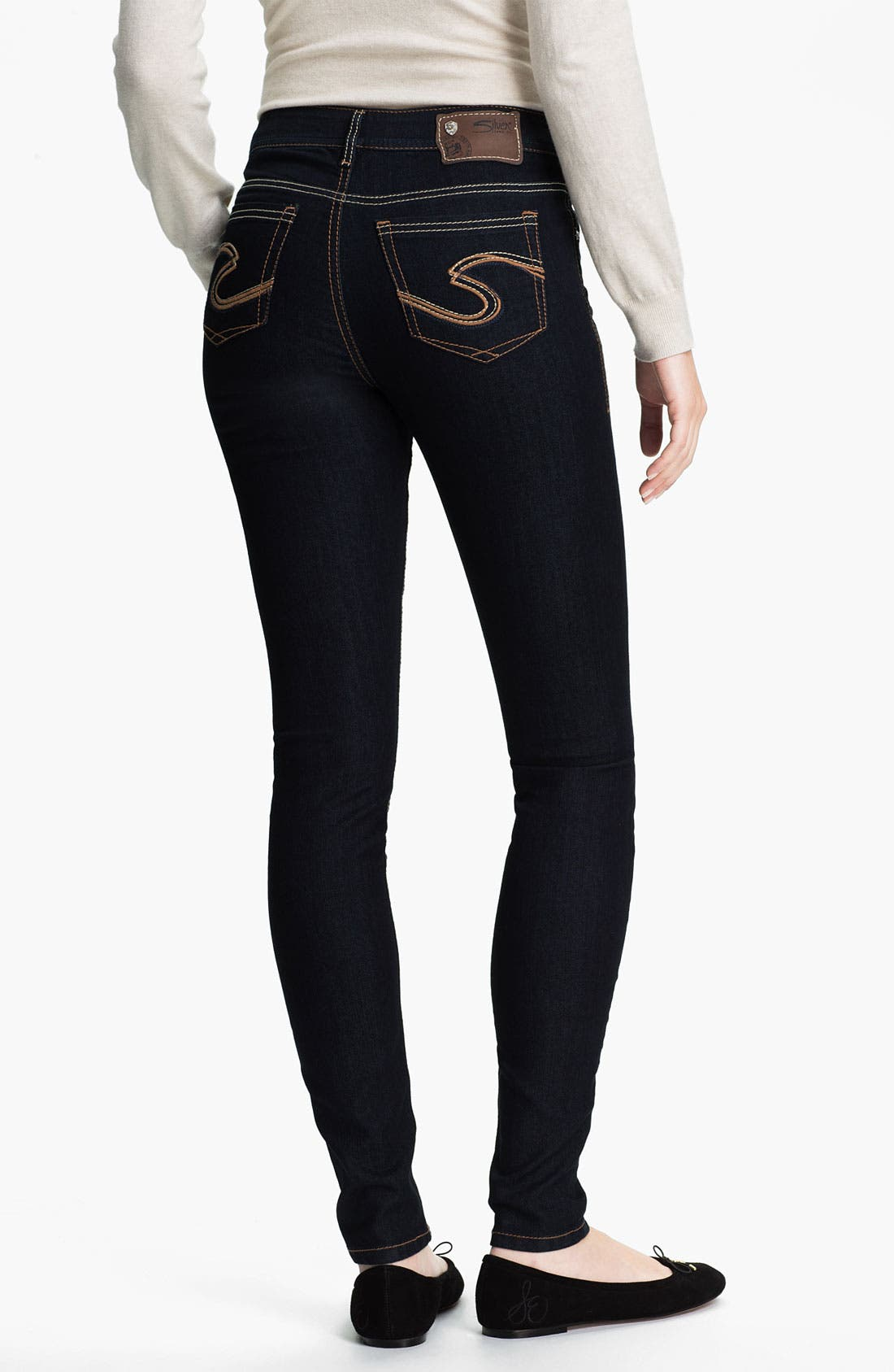 Alternate Image 1 Selected - Silver Jeans Co. Skinny Jeans (Juniors)