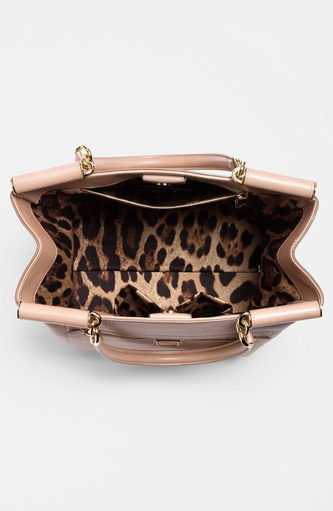 Alternate Image 3  - Dolce&Gabbana 'Miss Sicily' Leather Shopper