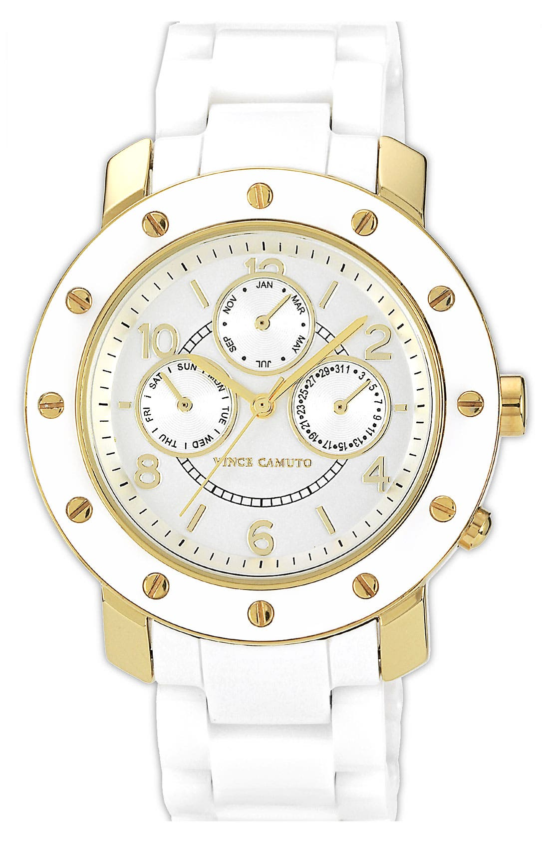 Alternate Image 1 Selected - Vince Camuto Ceramic Bracelet Watch, 42mm