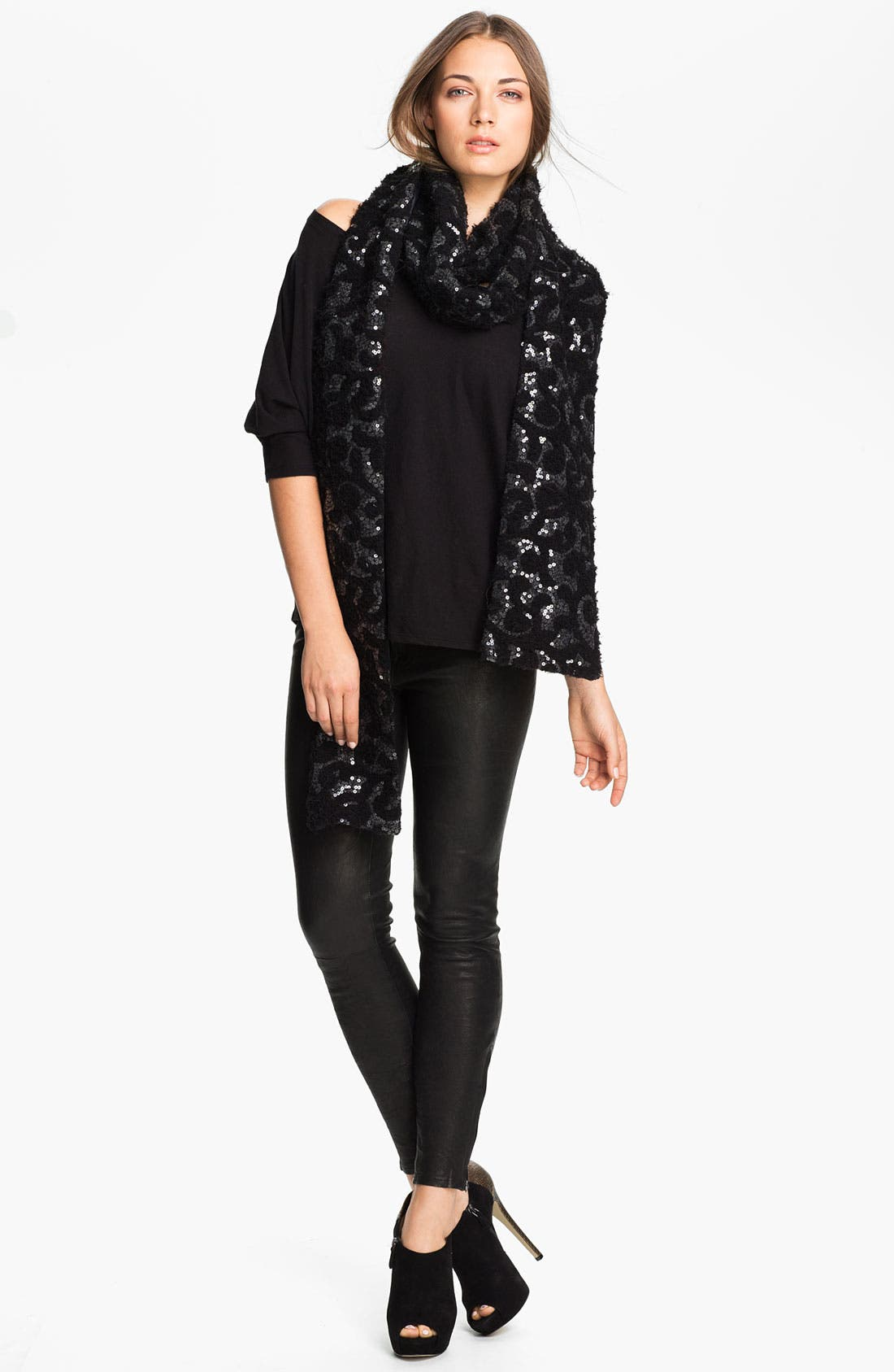 Main Image - Rachel Zoe Stretch Sequin Scarf