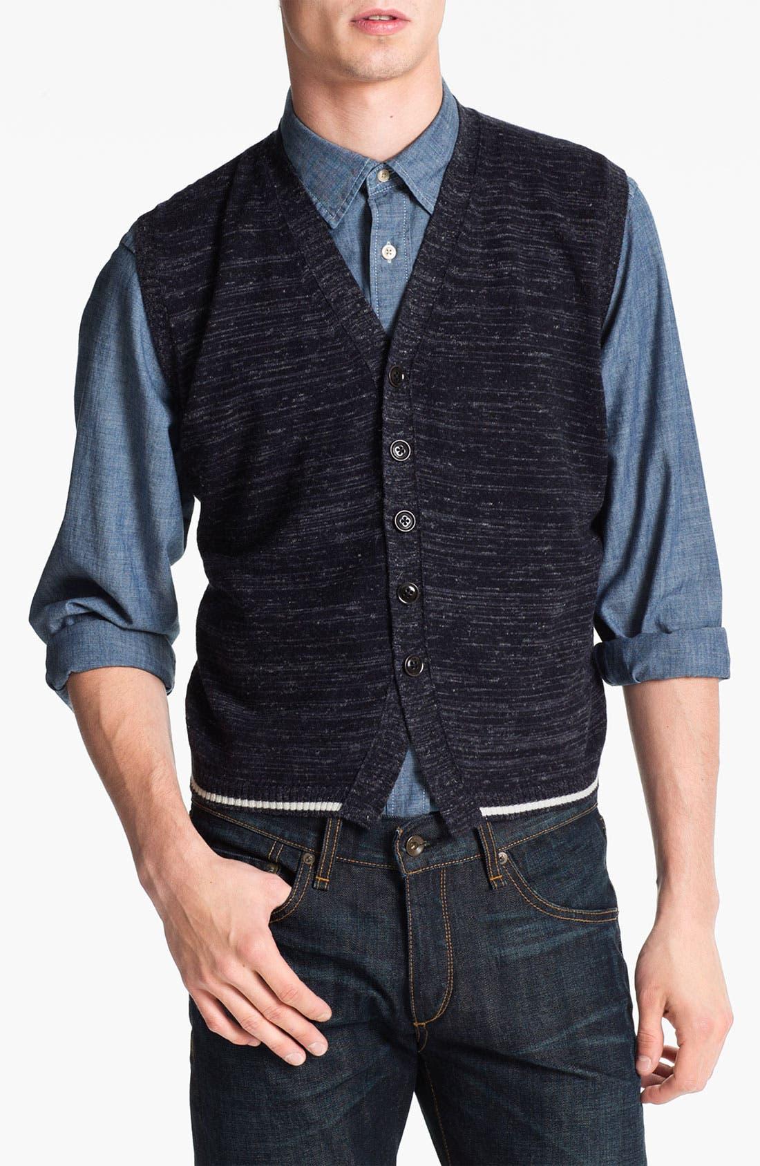 Alternate Image 1 Selected - Orlandini 'Nis' Merino Wool Blend Sweater Vest