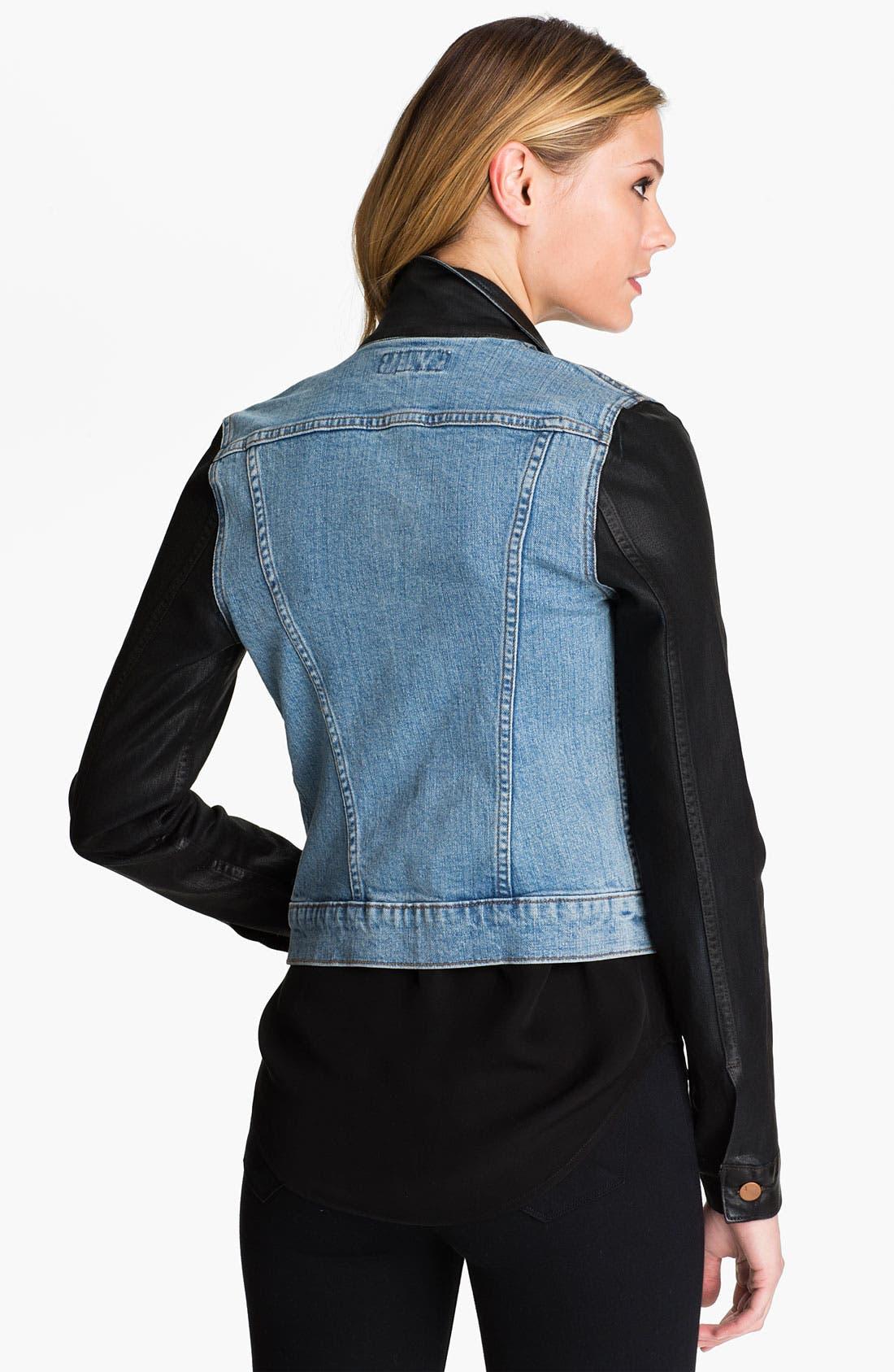 Alternate Image 2  - J Brand Denim Jacket (Coated Bowie)